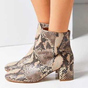 Urban Outfitters Thelma Snake Skin Boot